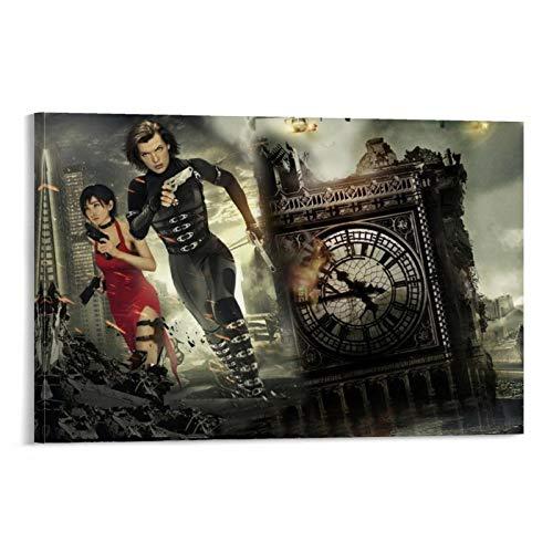 DRAGON VINES Resident Evil The Final Chapter Bloody Horror carteles e impresiones sobre lienzo sala de estar arte cocina 20 x 30 cm