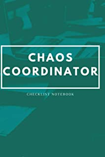 Chaos organizer checklist notebook : Simple daily organizer with 121 pages , a great tool for busy men and women to keep t...