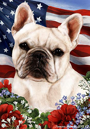 Best of Breed French Bulldog White Patriotic Garden Flags