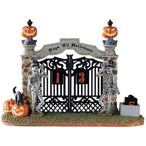 Lemax Spooky Town Gateway Halloween Countdown Table Piece #83348