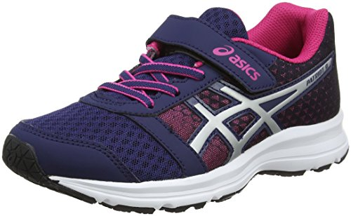 Asics Patriot 9 PS, Zapatillas de Running para Niños, Multicolor (Indigo Bluesilverfuchsia Purple), 27 EU