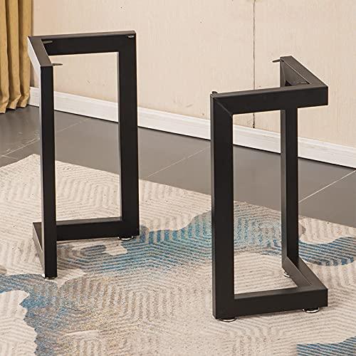 SWTOM Muebles de Patas de Mesa de Metal Pie Ajustable Reemplazo Resistente Banco de Trabajo de Escritorio para Computadora 72.5'Altura 60' Ancho