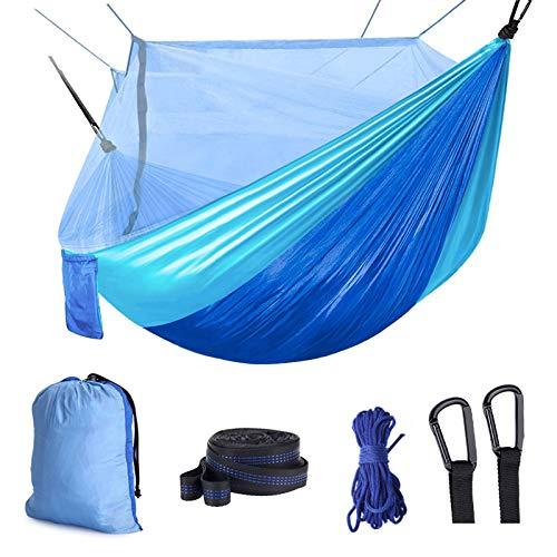 Idefair Hamaca con mosquitera, hamacas para Acampar Dobles Bug Net Impermeable Portátil y Ligero para mochileros Senderismo Viajes al Aire Libre