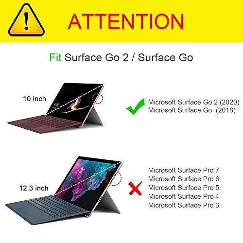 Fintie Hülle für Surface Go 2 2020 / Surface go 2018 10 Zoll Tablet - [Multi-Sichtwinkel] Hochwertige Kunstleder Schutzhülle Tasche Etui Cover Case mit Stylus-Halterung, Roségold