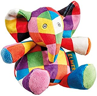 Rainbow Designs Elmer The Elephant Soft Toy Rattle