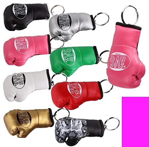 BAY® MINI Boxhandschuhe Schlüsselanhänger Miniboxhandschuhe Schlüssel Anhänger Deko Geschenk Box Handschuhe