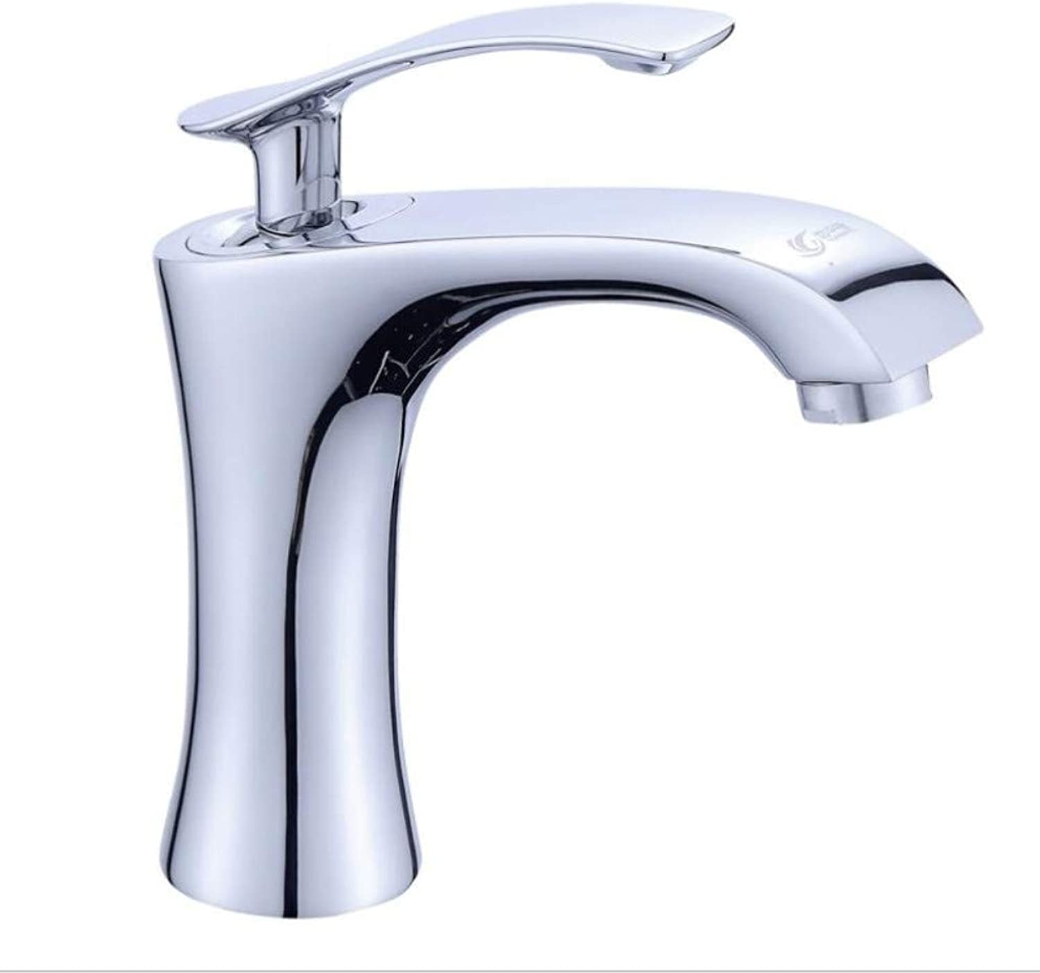 Basin Faucet Taps Basin Mixer Waterfall Bathroom Chrome Cold Water Deck Mounted