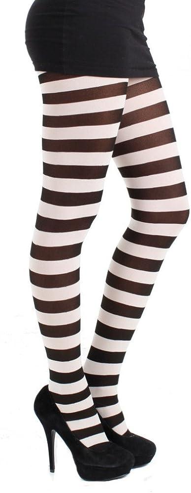 Pamela Mann Twickers Stripe Tights-Flo Pink-One Size