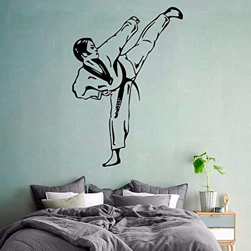 Tianpengyuanshuai Calcomania de Pared de Artes Marciales Taekwondo Boy Fighter Gym Sports Art Nursery Baby Room -54x37cm