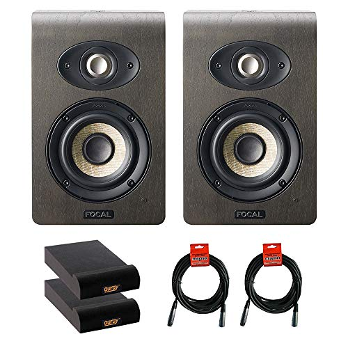 "Focal Shape 40 4.0"" Active 2-Way Studio Speaker Monitor (Pair) with 2x Small Isolation Pad & 2x XLR-XLR Cable Bundle"