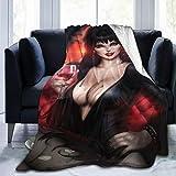 549 E-Lvira M-Istress of The Dark Blanket Indoor and Outdoor Blanket Rest Blanket Comfortable Bed Blanket Sofa Blanket 60'X50'