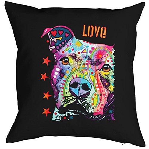 Love Pit Bull Pillow, oreiller, almohada, Cuscino Pop Art Style