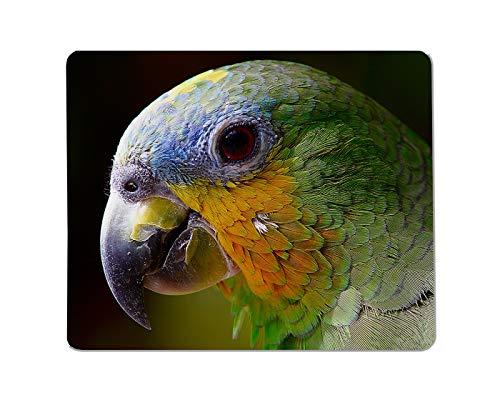 Yeuss papegaaien rechthoekige anti-slip muismat vogel, snavel, papegaai, Fauna snavel, vogel, fauna, oog, veer Gaming muismat 200mm x 240mm