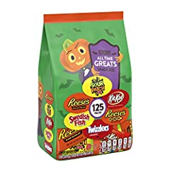 Bulk pack ideal for handing out to trick-or-treaters, sharing at the office, and adding to lunchboxes Individually wrapped for easy sharing Versatile assorted candy Mix features chocolate, fruity, and sour treats to keep everyone happy Includes REESE...