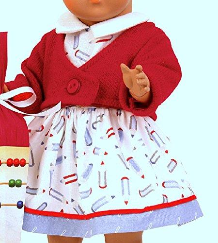 Schildkröt Puppen Kleid mit Strickjacke und Schultüte für 41 cm Puppen 41682