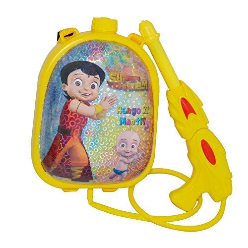 Planet of Toys Pichkari Water Gun with Tank for Kids   High Pressure Water Gun Pool Toys for Kids (Yellow)