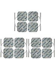 StimPads 50X50mm. Set van 12 hoge kwaliteit TENS - EMS elektroden met 2mm pin aansluiting.