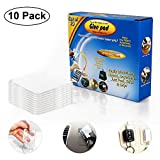 10Pcs Washable Double Sided Sticky Gel Pads, WOVTE Multipurpose Reusable Non Slip Pad, Removable Gripping Pads Cell Phone Holder for fixing Carpet Phones Pictures Car Dashboard Home Use (Clear)
