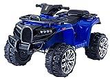 RIRICAR Quad eléctrico Ride-On ALLROAD 12V, Azul, enormes Ruedas Suaves de EVA, 2 x 12V, Motor, Luces LED, Reproductor de MP3 con USB, batería de 12V7Ah