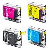 Sparsando LC 970 Tintenpatronen 10er Set kompatibel für Brother DCP-135C DCP-150C DCP-150 Series DCP-153C DCP-157C MFC-235C MFC-260C (4 Schwarz, 2 Cyan, 2 Magenta, 2 Gelb)