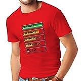 lepni.me N4227 Camiseta Horario de alimentación semanal (Large Rojo Multi Color)