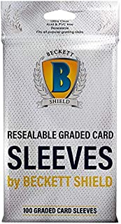 Sleeves–Beckett Shield: Resealable Graded Card Sleeves 100CT–Protect Graded Cards from Damage-MGT Card Sleeves are Smooth...
