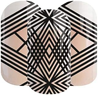 Ry-Guy Jamberry Lacquer Strips | Black Crisscross Stripes on Clear | Quick & Easy Nail Decal Design | Fun & Trendy Nail Art Stickers | Perfect Gift for DIY Easy Nail Art