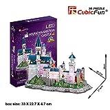 3D Puzzle Neuschwanstein LED Light Neuschwanstein Castle Cubic Fun