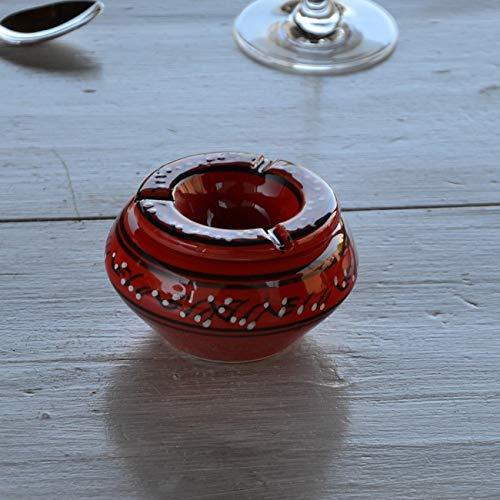 Yodeco - Cendrier Tunisien Tatoué rouge - Moyen modèle