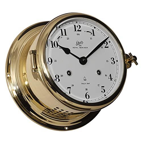 Delite Reloj de cristal Schatz Royal 480 cma árabe mecánico, latón pulido, 180 mm