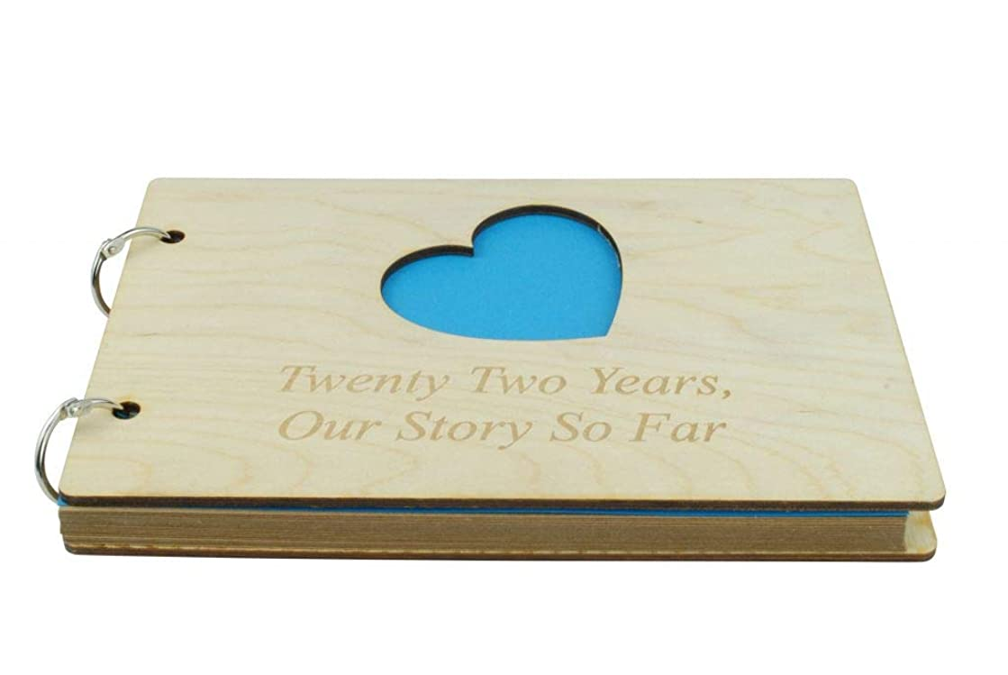 22 Year Anniversary Wooden Scrapbook – Perfect for Your Husband or Boyfriend