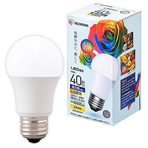 アイリスオーヤマ LED高演色電球 E26 40形相当 昼白色 LDA7N-G-4T5HR