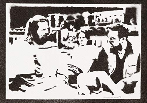 Poster El Gran Lebowski Grafiti Hecho a Mano - Handmade Street Art - Artwork