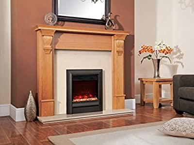 Designer Celsi Fire - Electriflame XD Oxford Black Hearth Mounted 16''