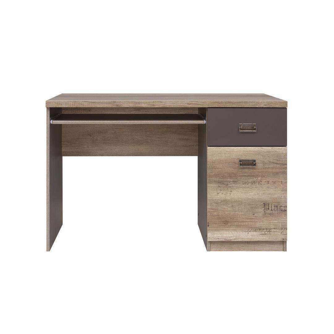 Furniture 247 Station de travail//bureau informatique moderne avec 2 tiroirs invisibles Blanc