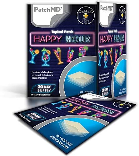 PatchMD Happy Hour Hangover Patch Natural Ingredients Help Prevent Hangovers Before They Start product image