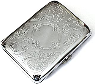 Steel Stainless Cigarette Case Silver Durable Double Sided Cigarette Box