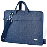 Voova Laptop Shoulder Bag,Slim Portable Sleeve Carrying Case with Strap Compatible with 17 17.3 Inch Computer/Notebook/MacBook Pro 17' / New Razer Blade Pro 17 / Asus Acer Hp for Men Women, Blue