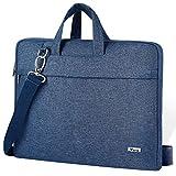 Voova 14-15.6 Inch Laptop Sleeve Case Laptop Shoulder Bag, Slim Computer Carry Case with Strap Compatible with MacBook Pro 15.4' / Macbook Pro 16 2019 / Surface Laptop 3 Book 2 15' Chromebook XPS,Blue
