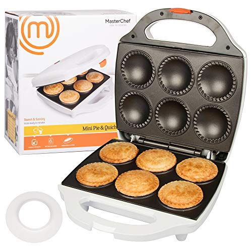 MasterChef Mini Pie and Quiche Maker- Pie Baker Cooks 6...