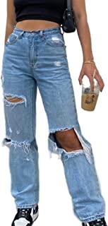 NP Dames high-rise Ripped Wide-Leg Slim-fit Jeans