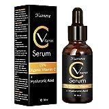 Sérum Vitamine C, Serum Acide Hyaluronique, Serum Visage Bio, Serum Visage Hydratant, Reduire les cicatrices/rides/taches/signes de vieillesse, Traitement Anti-a¢ge Hydratant, 30ml