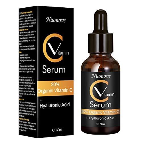 Vitamin C Serum, Hochdosiertes Vitamin C Serum, C Vitamin Serum Gesicht, Hyaluronsäure Serum für Gesicht, Natürliche AntiAging + Anti Falten + Feuchtigkeits, 30ml