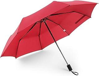 AINIYF 8 Bone Three Fold Stacks Sun Umbrella, Clear Rain Dual-use Gift Umbrella Parasol (Color : Red)