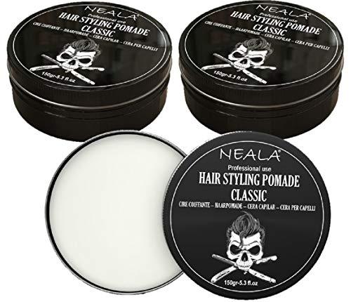 Pack 3 Cera para pelo de hombre - Neala Classic enriquecida con cera de abejas - Pack 3 latas x 150ml