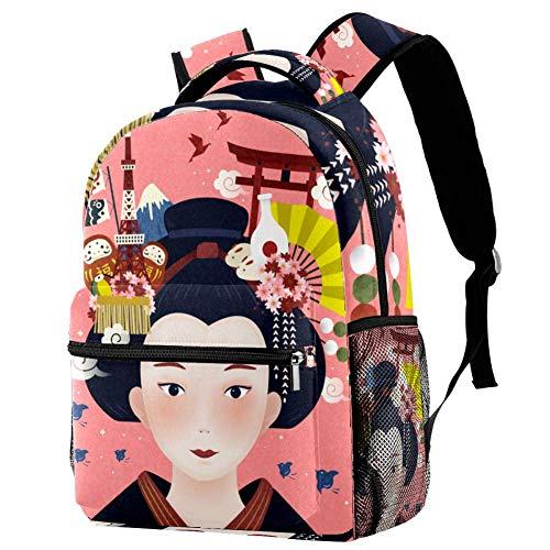 Mujer Japonesa Mochila para Niñas Escuela Primaria Mochila De Escuela Secundaria Secundaria Niñas Mochila De Viaje Mochila Portátil 29.4x20x40cm