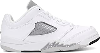 Jordan 5 Retro Low GP Little Kid's Shoes White/Black/Wolf Grey 819173-122