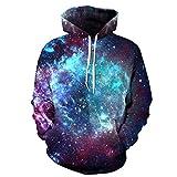 NEWCOSPLAY Unisex Realistic 3D Digital Print Pullover Hoodie Hooded Sweatshirt (S/M)