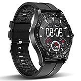 HopoFit Smartwatch,Reloj Inteligente para Hombre y Mujer.Compatible con teléfonos Android e iOS, IP68 Reloj Deportivo Impermeable con Ritmo cardíaco y Control del sueño(Negro)