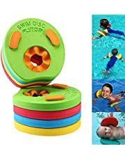 XCHAI 8Pcs Kids Swim Float Discs,Inflatable Swimming Arm Band Floats For Pool Beach,Baby Float Ring Swimming Pool Toys For Babies & Toddlers - Arm Band Set For Children Learn To Swim